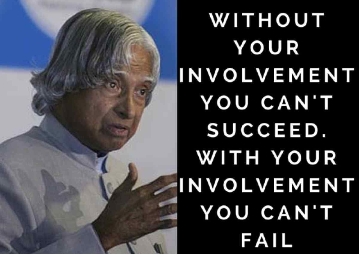 Daily Happylogues: Success& failure by A.P.J Abdul Kalam
