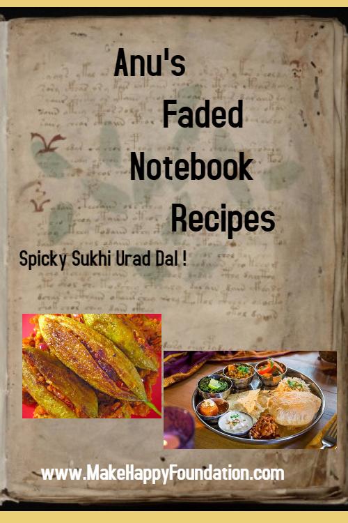 Chatpati Sukhi Urad Dal, Spicy Dry Urad Dal.