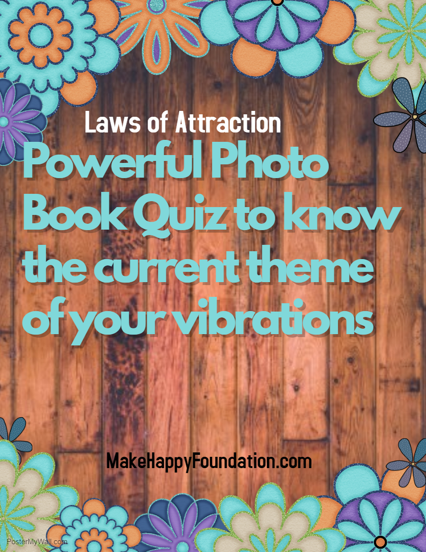 Powerful photo book quiz to know your dominant Vibrational theme, Laws of Attraction