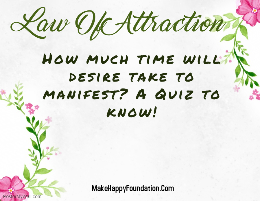 Law of Attraction Quiz, Know your Manifestation Time Period