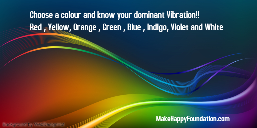Choose a Color and know your dominant Vibrational Frequency, The Secrets, you attract by your frequencies