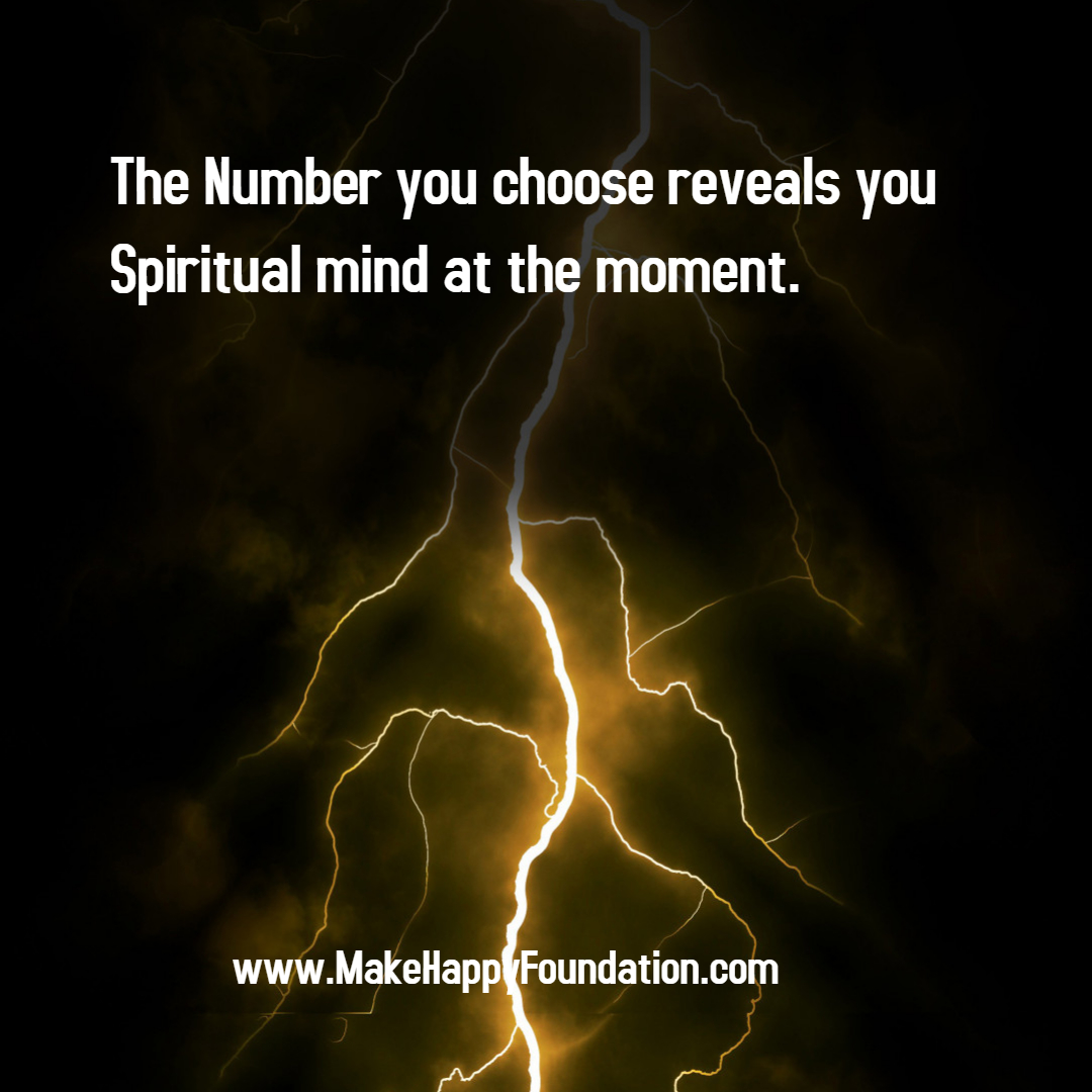 Number you choose reveals you spiritual self - Made with PosterMyWall