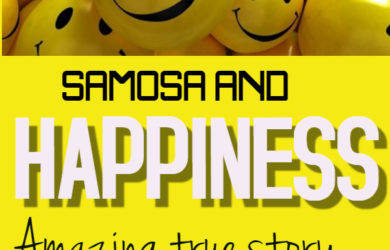Samosa and Happiness true story by MakeHappyFoundation - Made with PosterMyWall