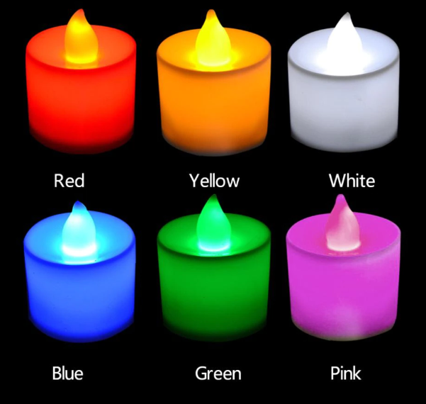 6 color candles make happy foundation