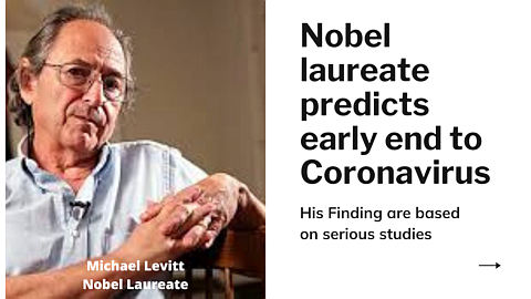 Coronavirus outbreak will end soon Says Nobel Laureate Michael Levitt