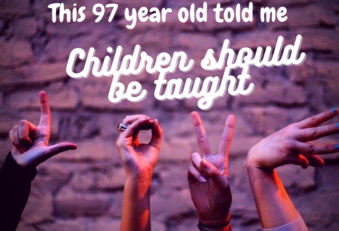 (7 year old said that children should be taught love