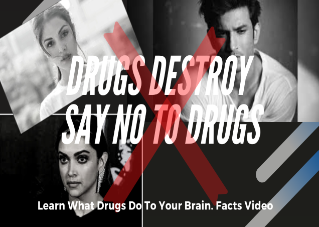 Drugs Destroy, do not try even once. This is how your brain suffers when you consume drugs : Sushant Singh Rajput : Deepika Padukone : Rhea Chakravarty : Shradhha Kapur Controversy.